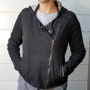 Guess Moto sweater jacket with removable Hood